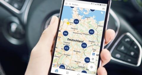 Mit der eMobility App Stromtankstellen schnell und bequem finden.