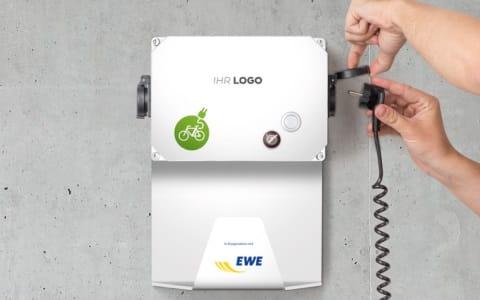 Sichern Sie sich eine Ladebox für E-Bikes von EWE.