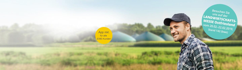 Nutzen Sie als EWE-Kunde die inklusive EWE-App!
