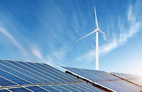 Nutzen Sie die Lösungen von EWE für erneuerbare Energiequellen.