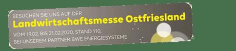Besuchen Sie EWE auf der Landwirtschaftsmesse Ostfriesland