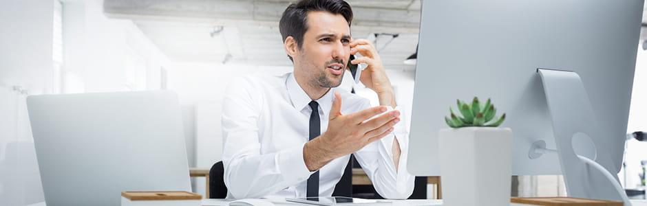 Schützen Sie Ihr Unternehmen vor Telefonbetrug.