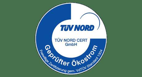 Wir liefern geprüften Ökostrom von TÜV Nord