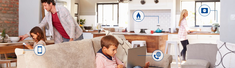 Zuhause läuft's: Energie und Telekommunikation von EWE