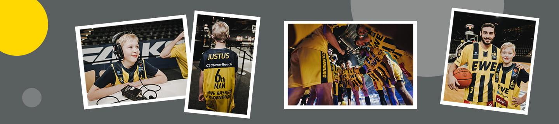 Werde mit EWE 6th MAN bei den EWE Baskets.