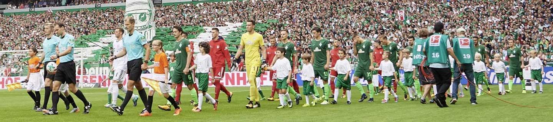 Jetzt mitmachen und Einlaufkind bei Werder Bremen werden.