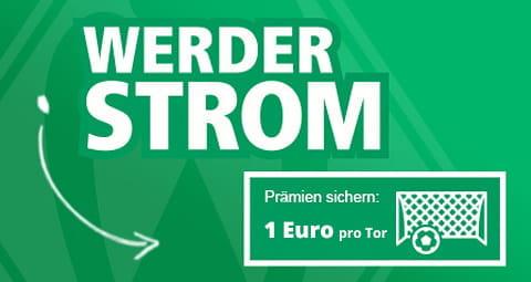 Mit Werder Strom von EWE bekommen Sie 100 % Ökostrom.