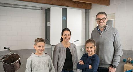 Familie Meistermann und Ihr EWE Stromspeicher
