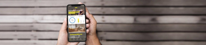Service App: Ihre EWE Online-Services in einer App.