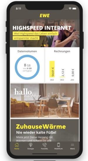 service app ewe. Black Bedroom Furniture Sets. Home Design Ideas