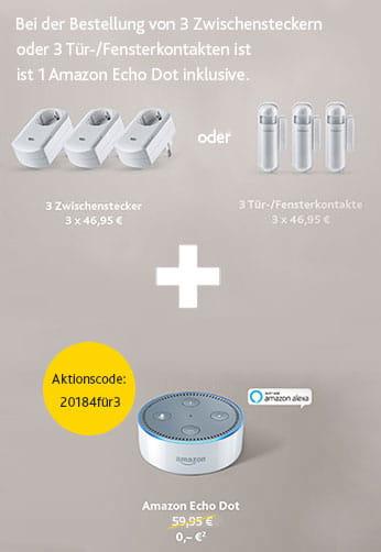 Ergänzen Sie Ihr EWE smart living mit 3 Bausteinen und erhalten 1 Amazon Echo Dot gratis dazu!