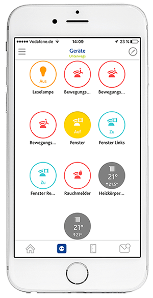 App Screen: Geräte einrichten