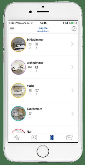 App Screen: Räume einrichten