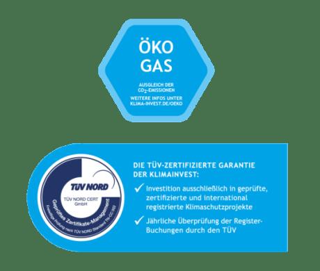 TÜV-Zertifizierung für CO2-neutrales Gas von EWE