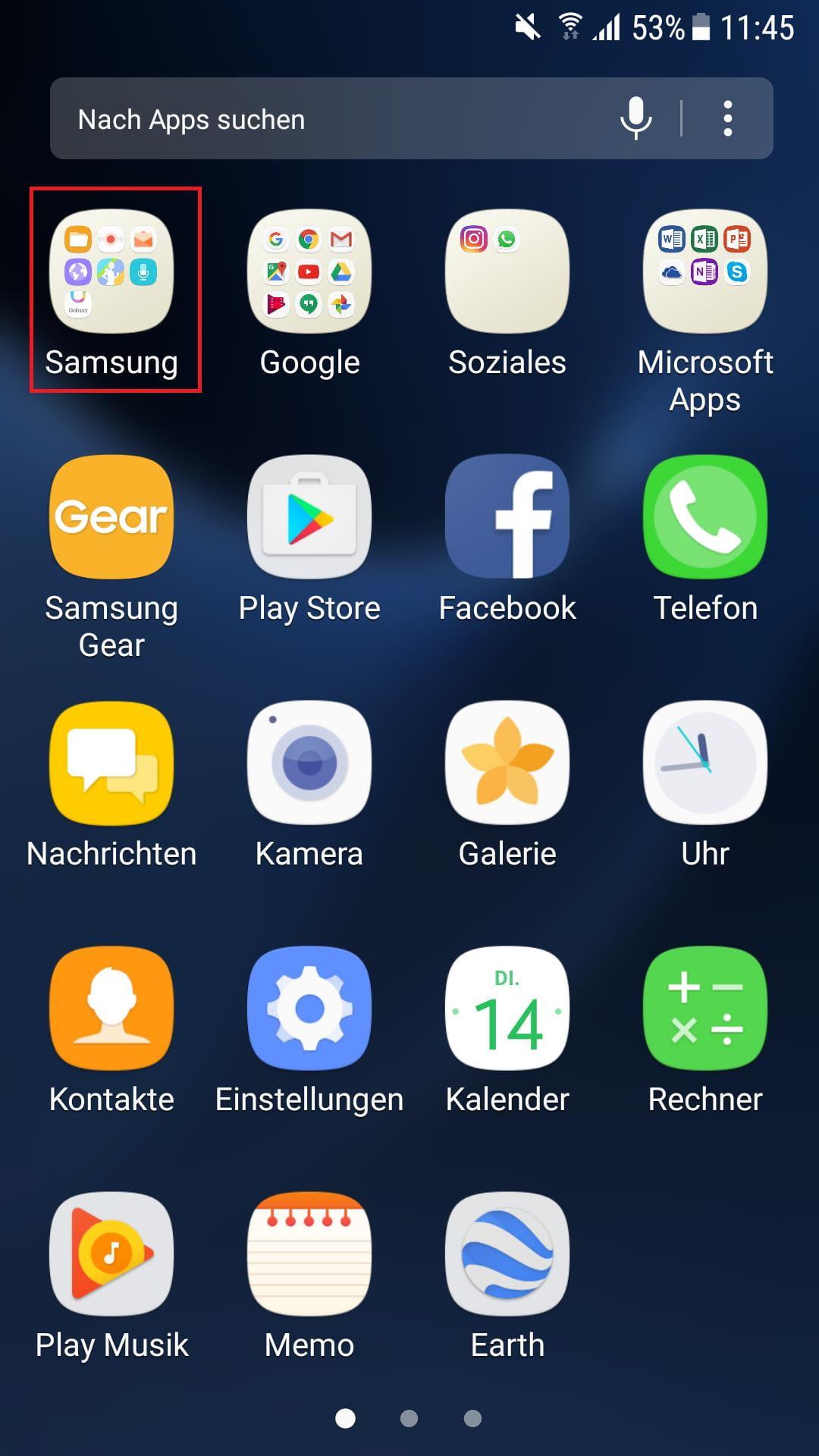 Samsung Tools aufrufen
