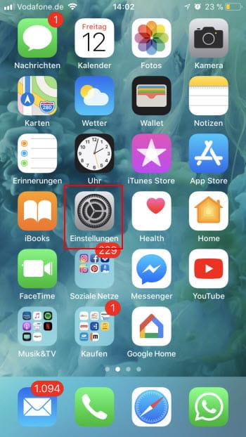 iOS11 Mail Einstellungen