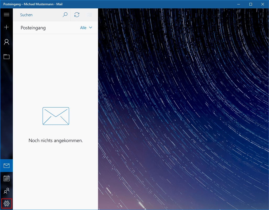 Einstellungen Windows Mail App