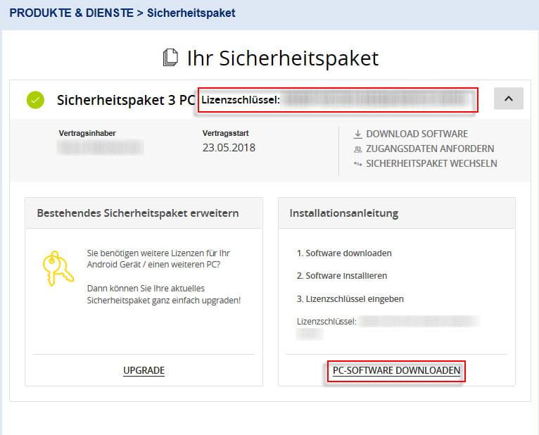 Mein EWE - Produkte und Dienste - Sicherheitspaket - Ihr Sicherheitspaket