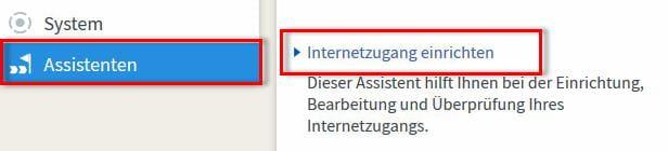 Den Internetzugang mit dem Assistenten der FRITZ!Box 7490 einrichten