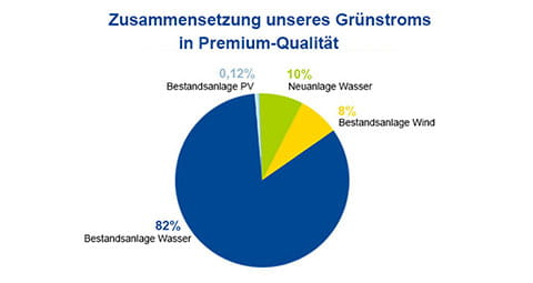 So setzt sich der EWE-Strom in Premium-Qualität zusammen.