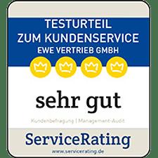 Jetzt sehr guten Kundenservice bei EWE sichern.
