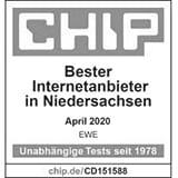EWE ist bester Internetanbieter in Niedersachsen.